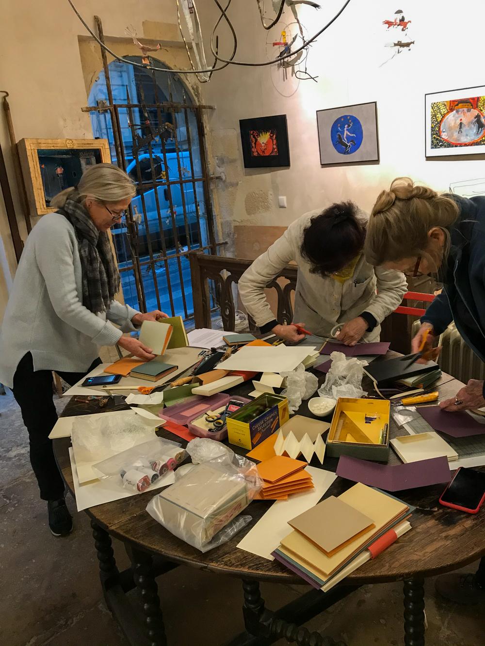 In Louise-Marie's studio, The Marais, Paris