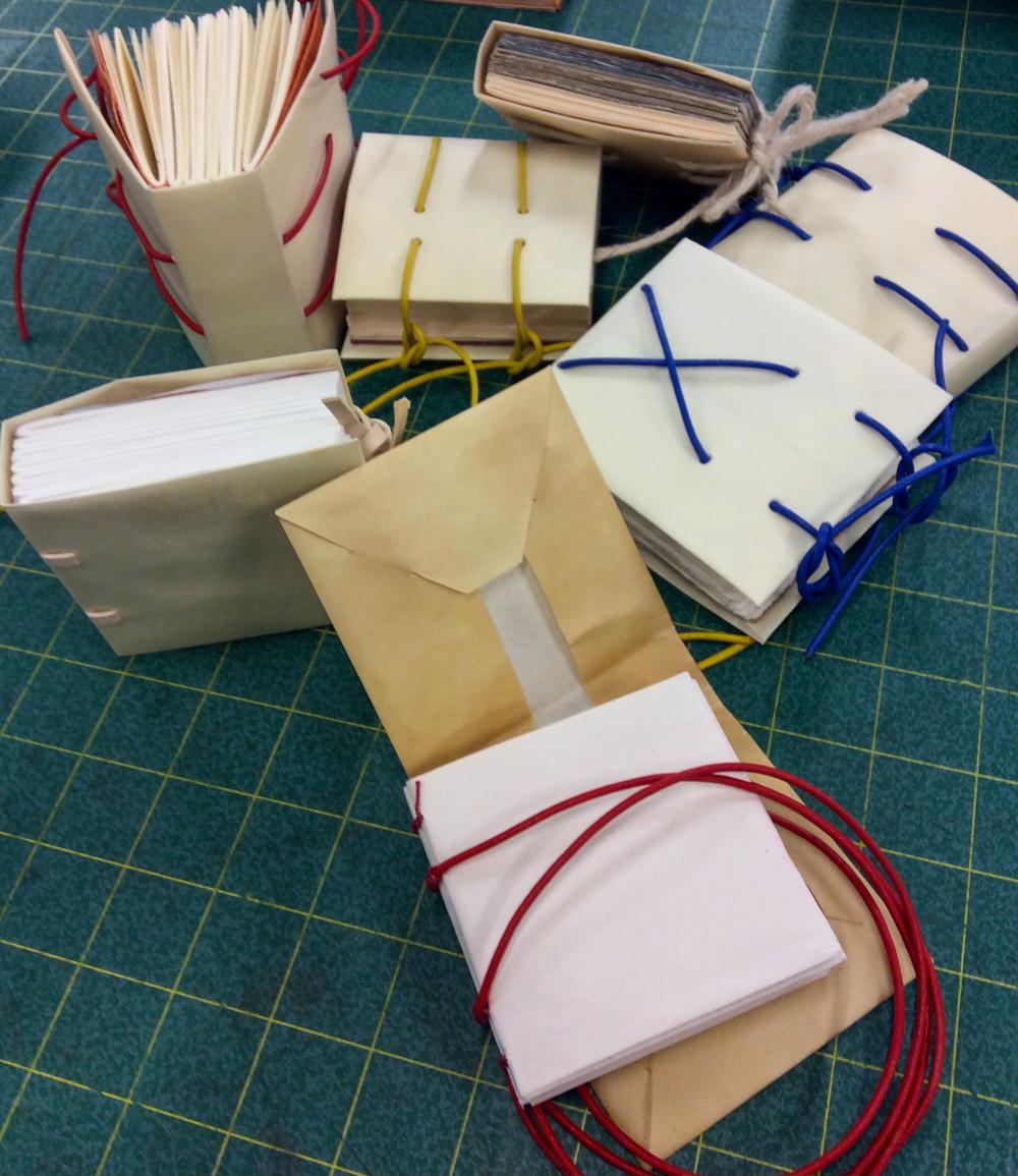 UArts, limp vellum bindings